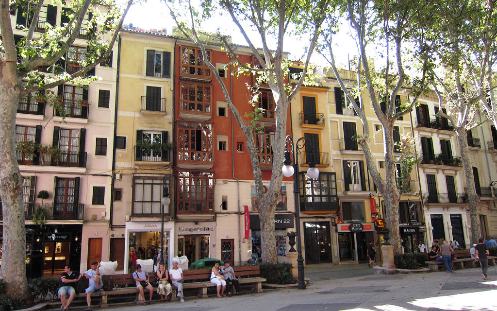 Paseo de El Borne, en Mallorca.