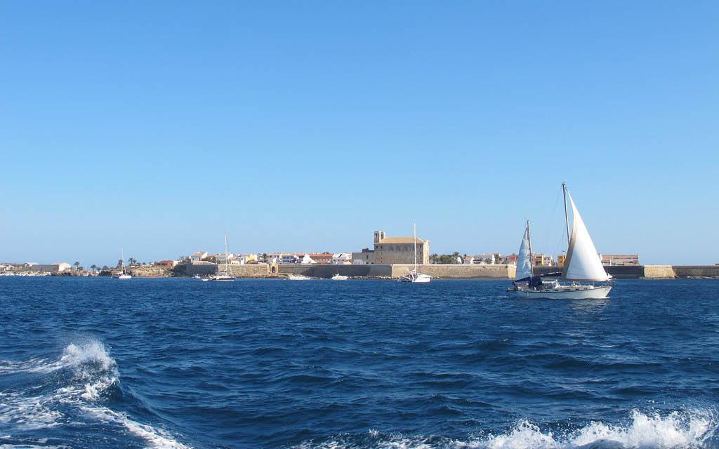 Vistas de la isla de Tabarca