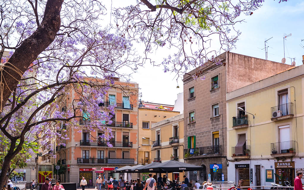 Barrio de Gracia en Barcelona